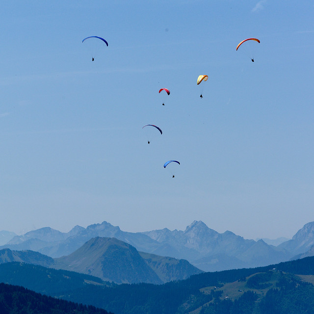 Paragliding - over the valley