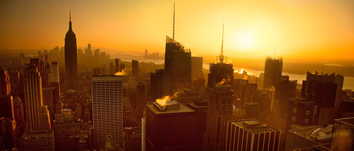 'A Manhattan View', United States, New York, New York City, Top of the Rockefeller Center, Golden Sunset | by WanderingtheWorld (www.ChrisFord.com)
