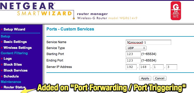 NETGEAR Router - Port Forwarding | Uploaded with Skitch