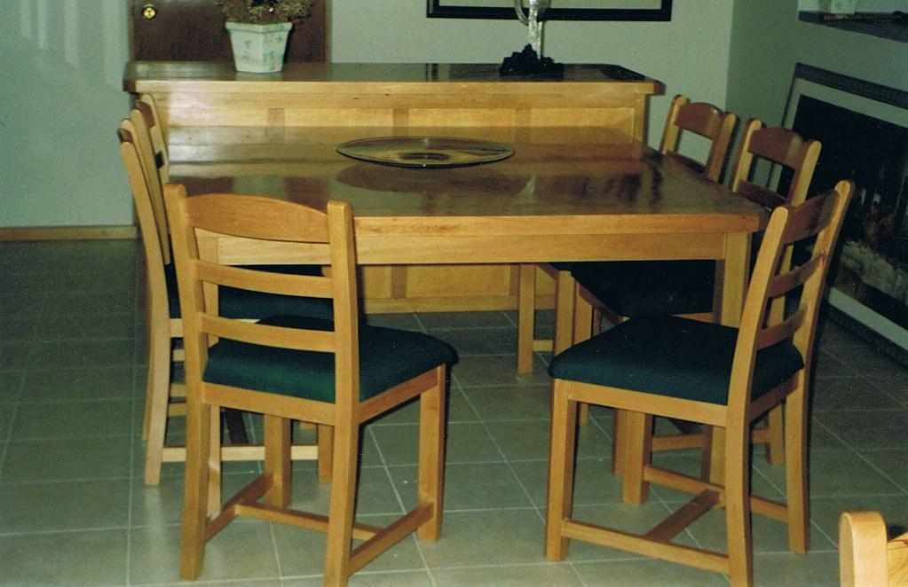 Comedor contemporaneo | Mesa cuadrada de 130x130 con 8 silla ...