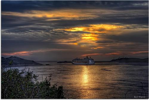 españa canon atardecer mar spain barco galicia nubes ocaso hdr nwn crucero ría eos60 mygearandme belargcastel belénargüeso