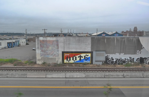 "From the Light Rail Window: ""Please Vote Thank You"""
