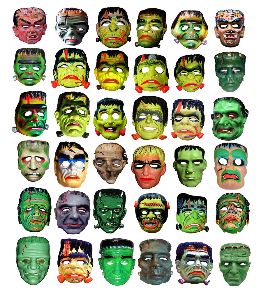 36 Frankenstein Type Monster Masks 013331