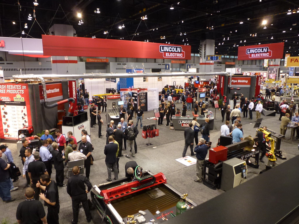 The view from the Harris booth at Fabtech 2011 | Harris