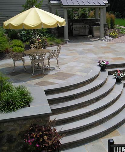 Curved Outdoor Stairs By Joanne Kostecky Garden Design In Flickr,Indian Salon Interior Design