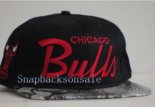 135c266c704 ... NBA Mitchell   Ness - Chicago Bulls Snake Skin Snapbacks Hats Black