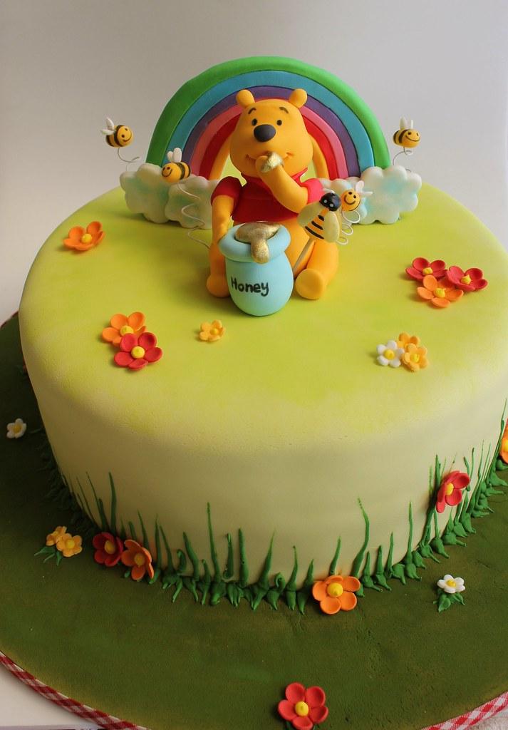 Cool Winnie The Pooh Birthday Cake Isa Flickr Funny Birthday Cards Online Alyptdamsfinfo