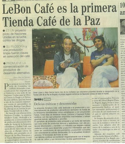 Periódico El Colombiano Medellín Septiembre 2006