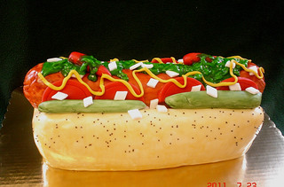 Phenomenal Chicago Style Hot Dog Birthday Cake For The True Chicago D Flickr Funny Birthday Cards Online Aeocydamsfinfo