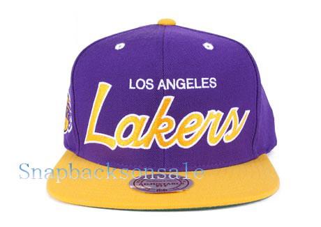 e3ac1354 ... NBA Mitchell & Ness - Los Angeles Lakers Snapback Script Vintage Hat Cap  | by Snapbacks