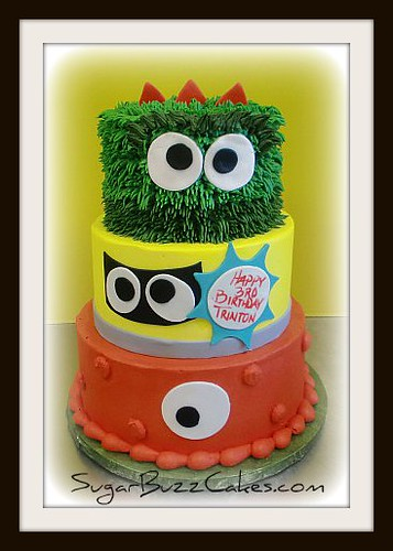 Astounding Yo Gabba Gabba Birthday Cake A Photo On Flickriver Funny Birthday Cards Online Elaedamsfinfo