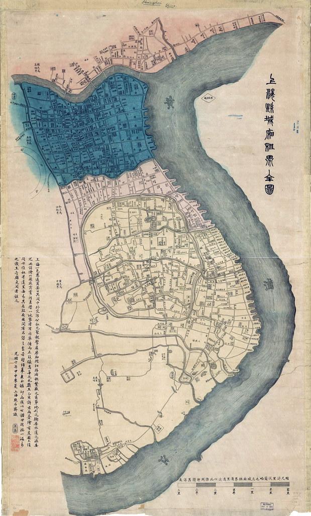 1884年上海地图| 虹桥故事| Flickr