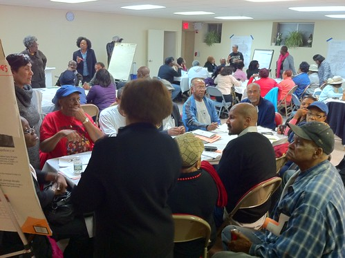 Focused room full of people sharing capital budget ideas Friday night in Flatbush. #pbnyc   by Daniel-Latorre