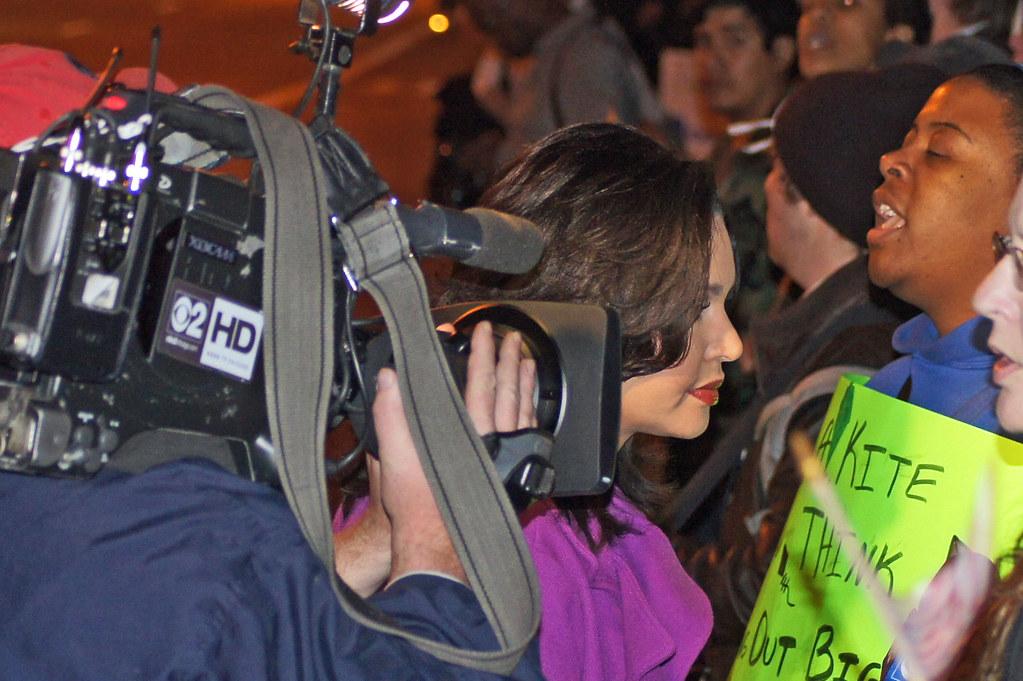 Channel 2 News Team at Occupy Chicago | Gary Eckstein | Flickr