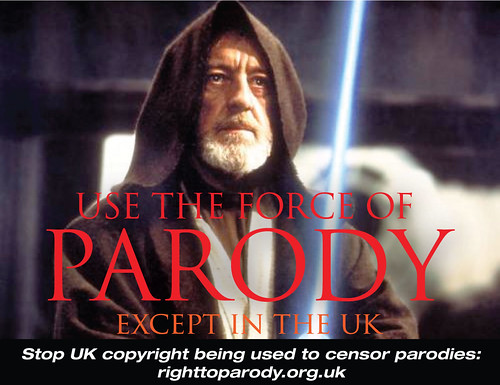 Use the force of Parody: except in the UK