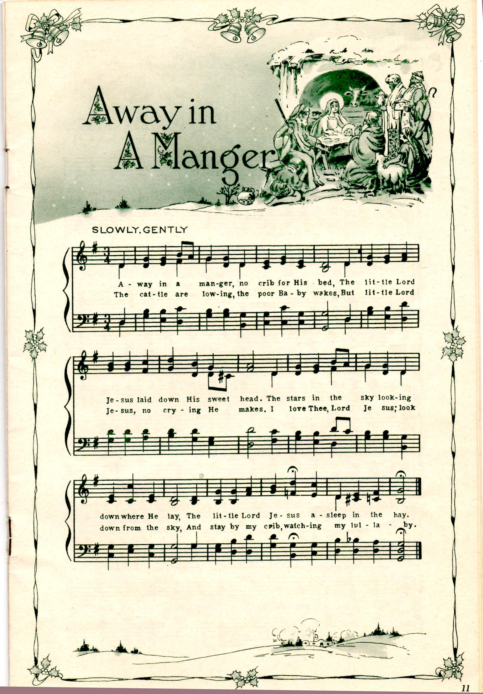 graphic relating to Lyrics to Away in a Manger Printable called All measurements Absent Inside of A Manger Flickr - Photograph Sharing!