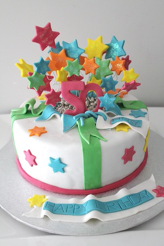Exploding Star 50th Birthday Cake | by Bella Bambini Birthdays2011