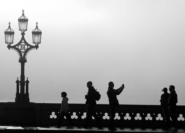 Westminster Bridge-foggy morning