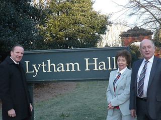 Len, Brenda & Tim outside Lytham Hall | by fyldeca