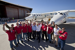 Scaled Composites Team. Photo by Mark Greenberg | by Virgin Galactic