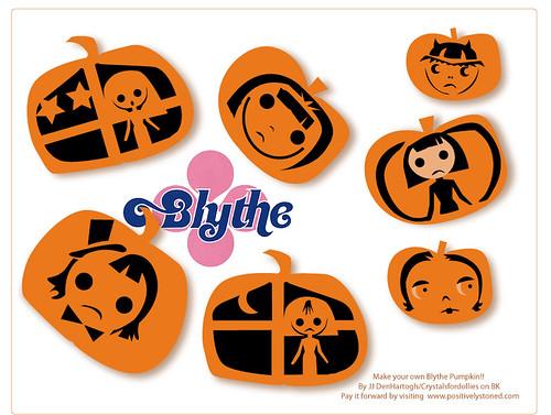 Blythe Pumpkin Carving Templates