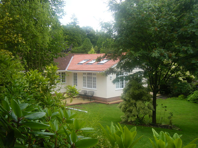 <p>Single storey extension with vaulted ceiling and velux windows.</p>