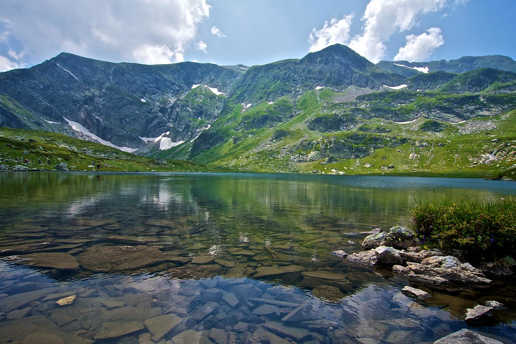 Summer in the mountain. Rila lake
