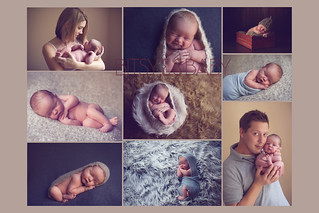 newborn baby photographer Collage | by Bitsy Baby Photography [Rita]