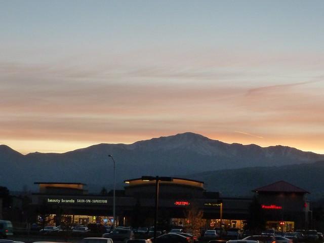 Pikes Peak at dusk