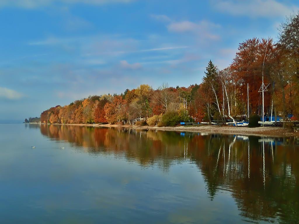 Starnberger See Ambach   Vielleicht die letzten bunten Tage.…   Flickr