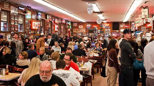 mad crowd at Katz's Deli | by Matt Biddulph
