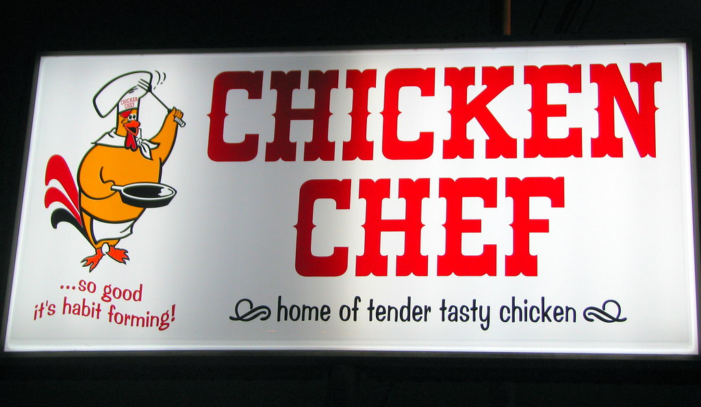 Chicken Chef sign - McMinnville, TN | I first learned about