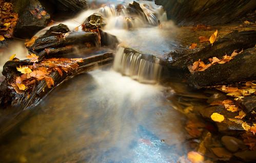 autumn fall automne cascade chute ruisseau 2011 amiante kinnearsmills blinkagain
