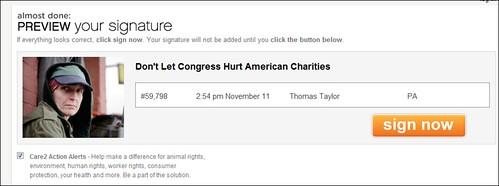 Care2 Petition Signature Capture