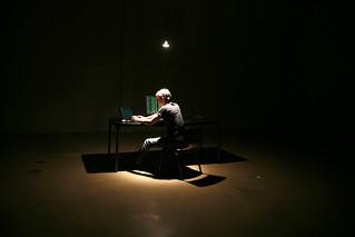 Lone Hacker in Warehouse | by dustball