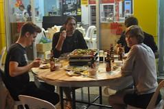 Sopar amb el Lucas, el Damir i un amic seu