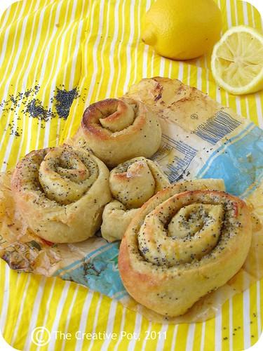 Lemon Poppy Seed Cinnabons e-w   by The Creative Pot