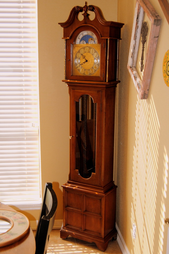 Ridgeway Grandfather Clock - Setup in Our Dining Room   Flickr