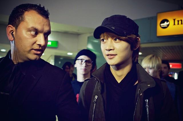 Some tall Korean teenager at Heathrow airport