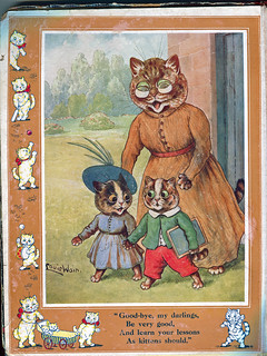 Louis Wain Cats at School - Another page from Somebody's Pussies