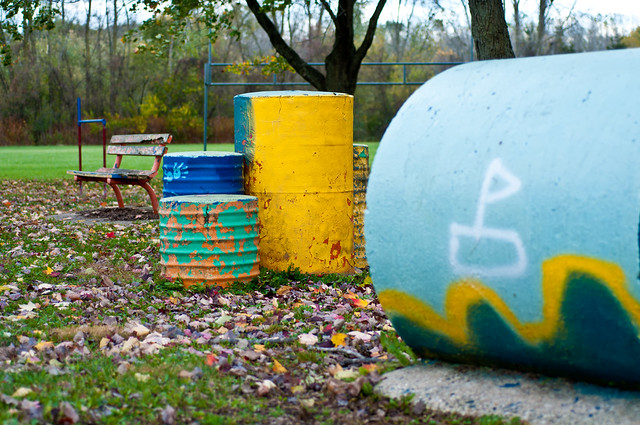 A Playground Without Children is Colorfully Boring.