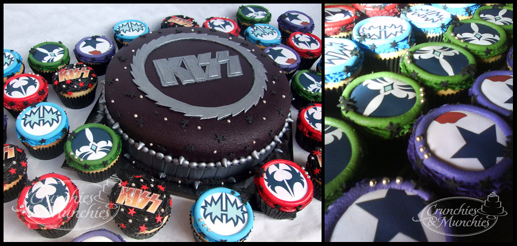 Phenomenal Kiss Cake And Cupcakes Crunchies And Munchies Flickr Funny Birthday Cards Online Overcheapnameinfo