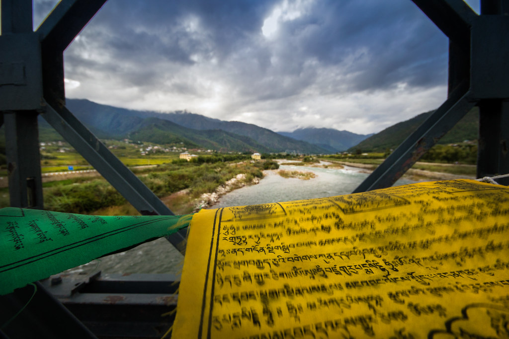 Tibetan prayer flags are the symbol of peace, compassion