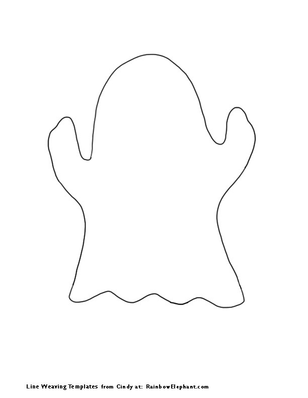 This is an image of Unforgettable Ghost Outline Printable