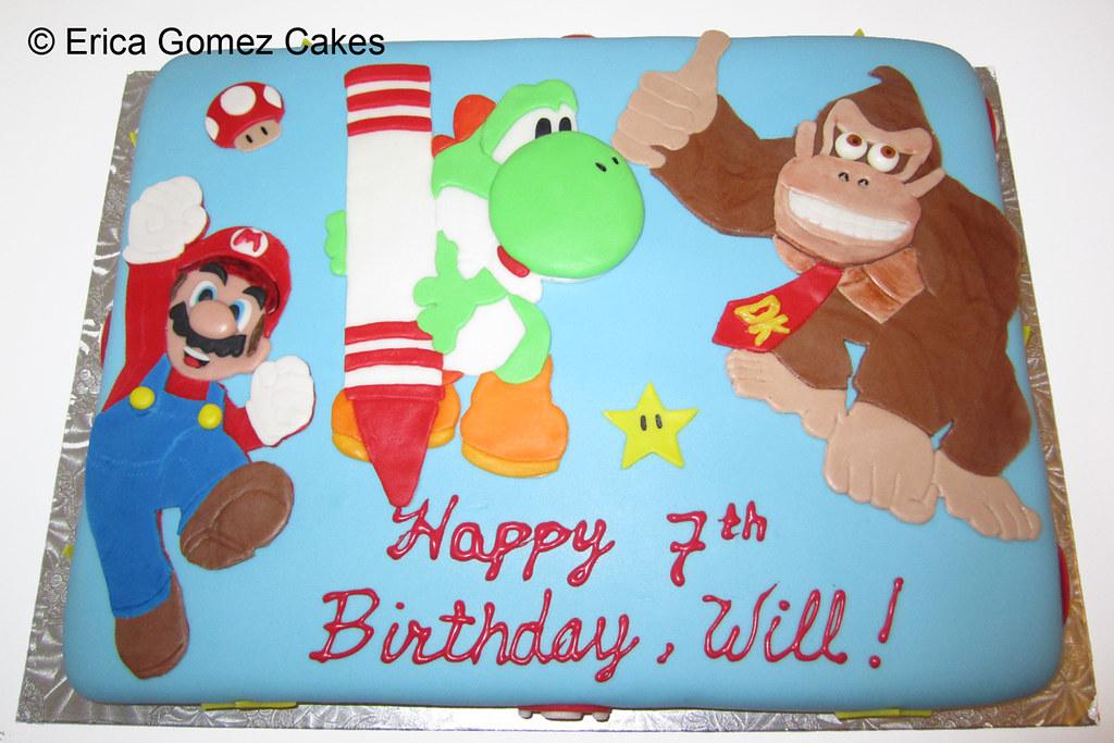 Magnificent Super Mario Donkey Kong Cake Ericablogs Flickr Funny Birthday Cards Online Amentibdeldamsfinfo