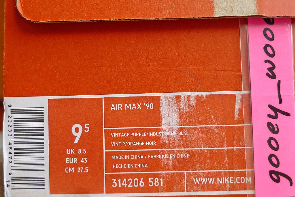 4002b68915 ... Nike Air Max 90 'BRS' Vintage Purple / Industrial Orange - Black (314206