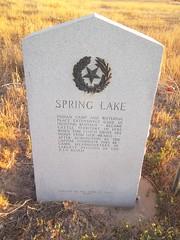 Spring Lake, Lamb County, Texas Historical Marker