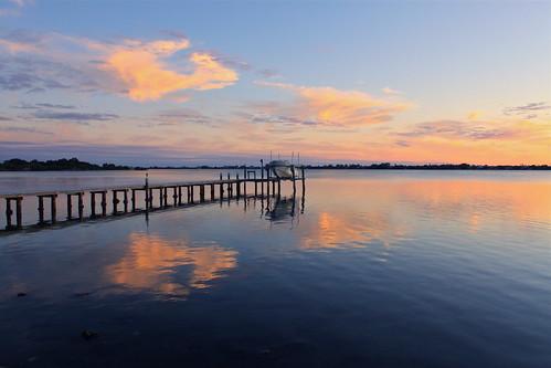 sunset sky reflection water canon boat florida platinumheartaward blinkagain bestofblinkwinners blinkagainsuperstars