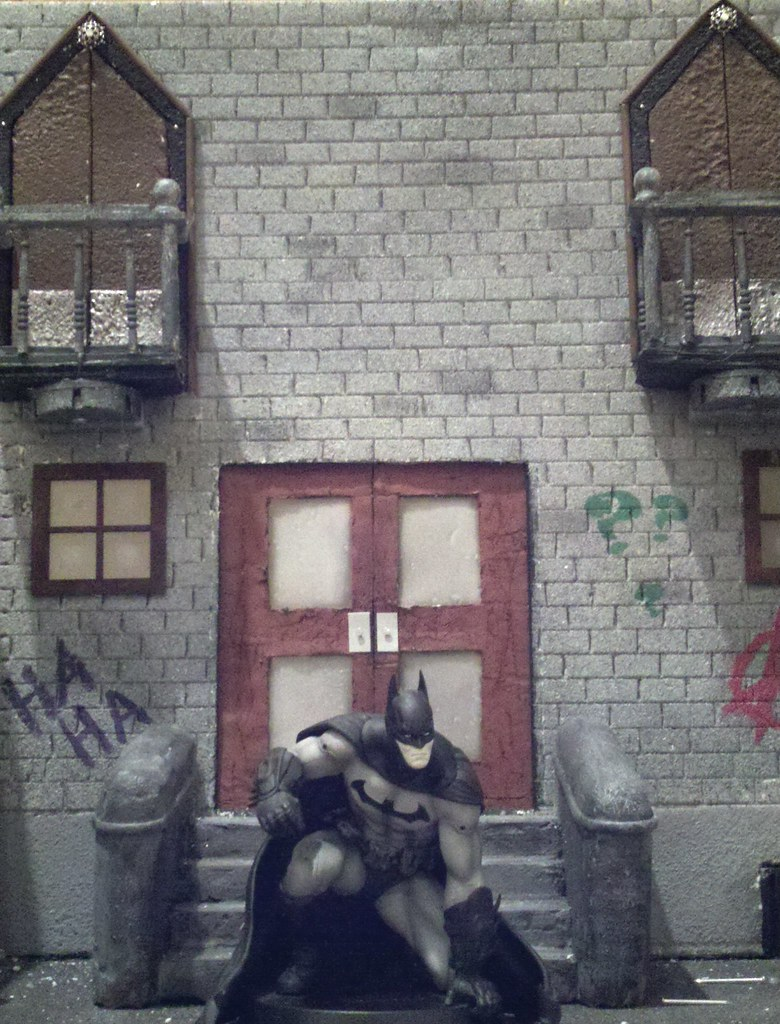 My custom Crime Alley action figure diorama display in the… | Flickr