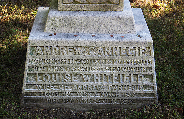 Andrew Carnegie grave - Sleepy Hollow Cemetery 007 | Flickr